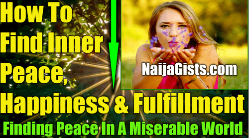 how to find inner peace happiness