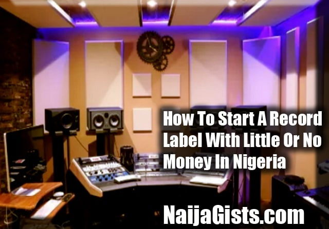 how to start a record label with little or no money