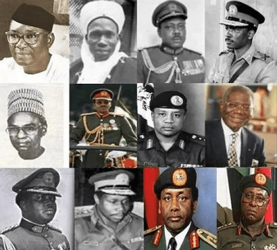 names of nigerian president from 1960 till date