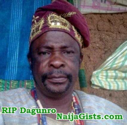 yoruba dagunro dead