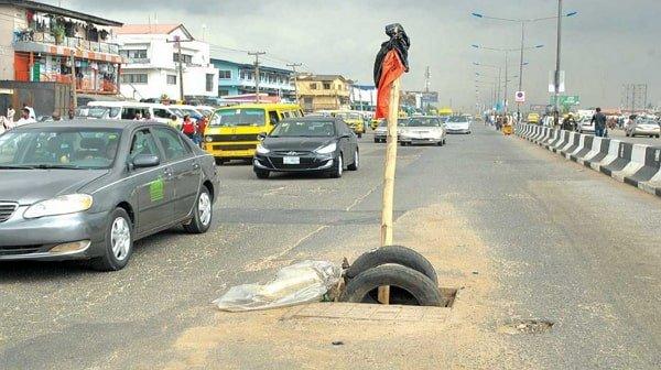 dangerous manholes lagos nigeria