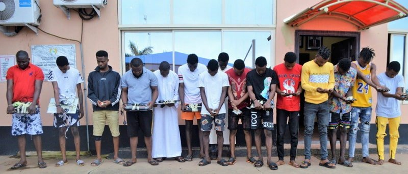photos yahoo boys arrested ibadan