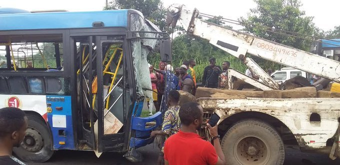 dangote truck brt bus accident