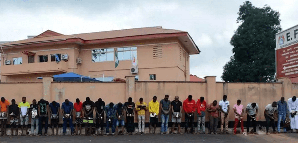 yahoo boys arrested akoto estate elebu ibadan