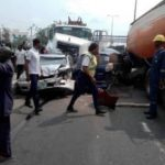 container falls moving truck ikorodu