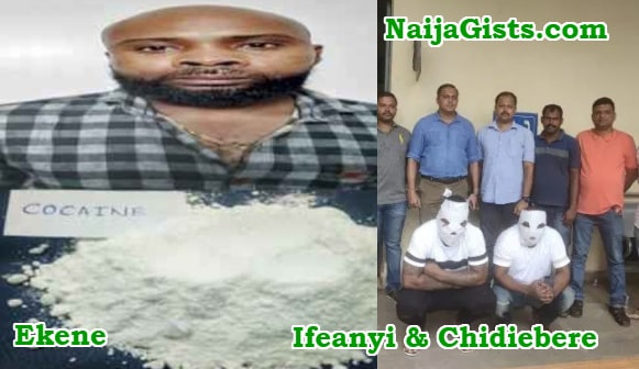 nigerians arrested cocaine drug india