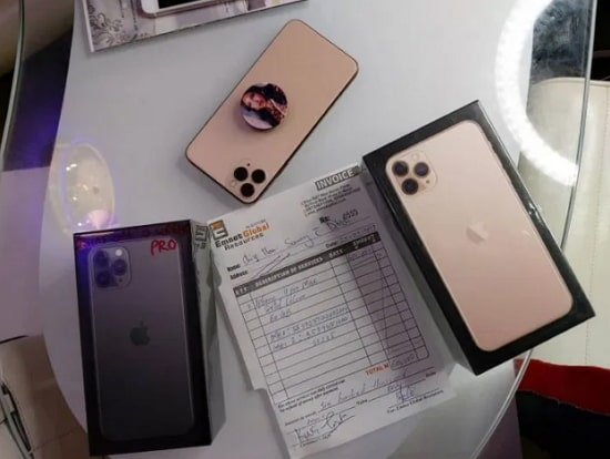 tonto dikeh buys iphone for dad