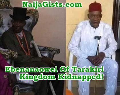 nigerian king kidnapped ijaw bayelsa