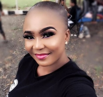 nollywood actress dumped by fiance shaving hair