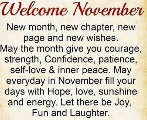 happy new month november 2019 wishes