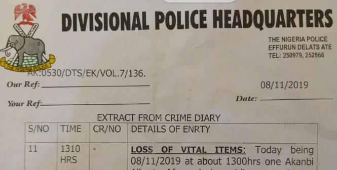 nigeria police report