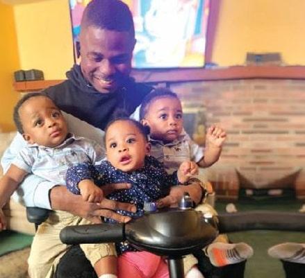 yinka ayefele triplets pictures