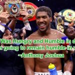 Anthony Joshua Inspirational Victory Speech, Quotes & Video