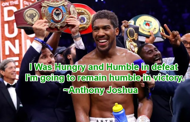 anthony joshua inspirational quotes