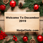 Happy New Month!! Hello December 2019