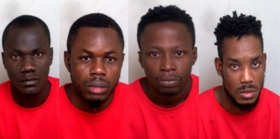 4 nigerians entered uk ship jailed