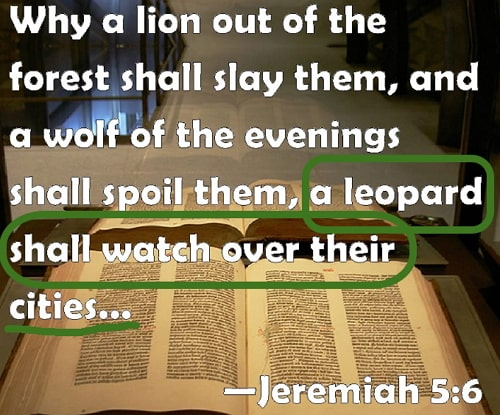 a leopard shall watch over their cities jeremiah 5:6