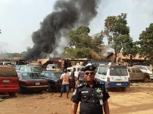 tanker explosion awka anambra mechanic shop