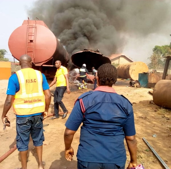tanker explosion anambra mechanic shop