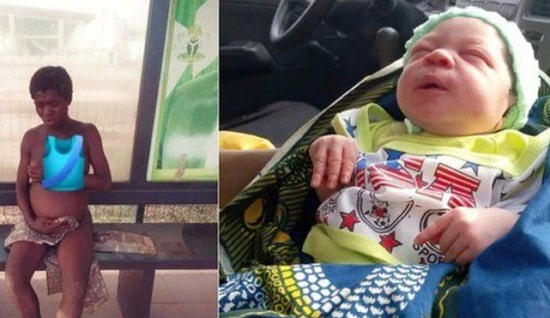 mad woman gives birth baby boy anambra