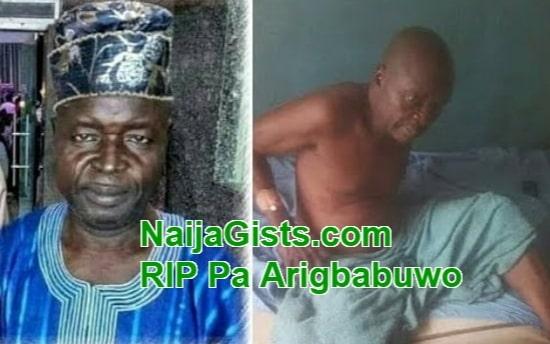 yoruba actor arigbabuwo dies ibadan
