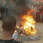 Suspected Yahoo Boys & Native Doctor Burnt To Death In Edo Over Murder Of Girl