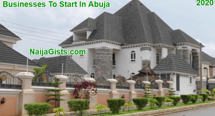 business ideas in abuja 2020