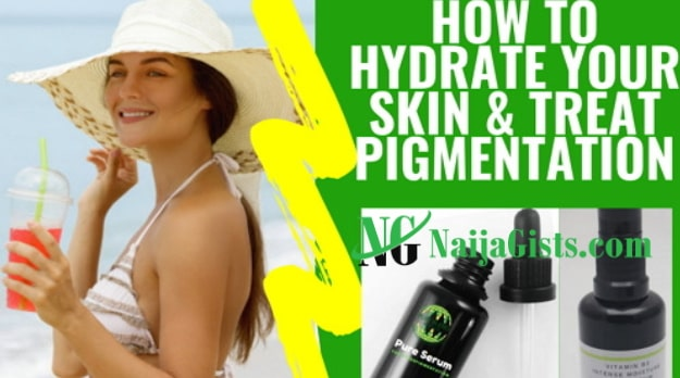 how to hydrate your skin without lotion water