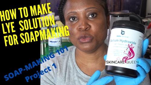 how to make lye water soapmaking