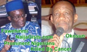 List Of Popular Nigerians Who Died Of Cancer