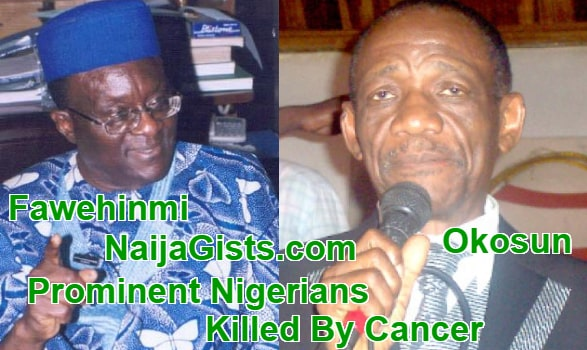 nigerians killed by cancer