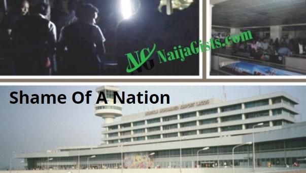black out lagos airport nigeria