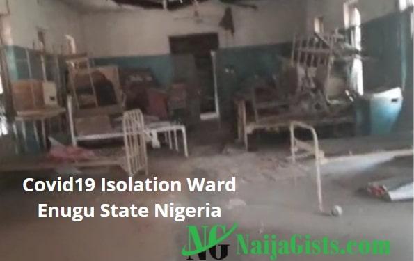 enugu state covid 19 patient isolation ward