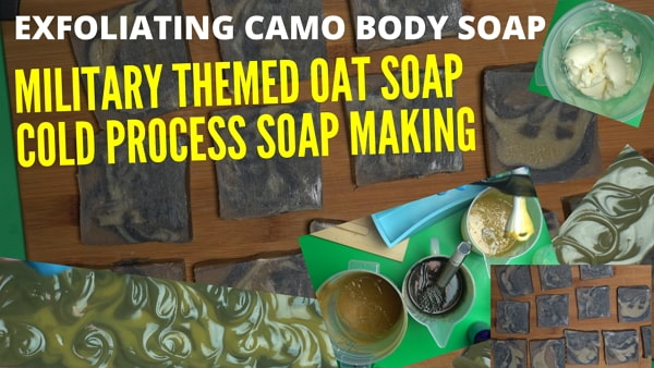 military camo soap bar body