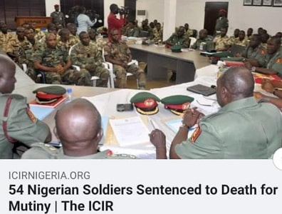 nigerian soldiers sentenced to death for mutiny