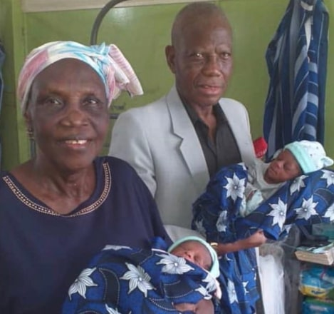 68 year old nigerian woman delivers twins