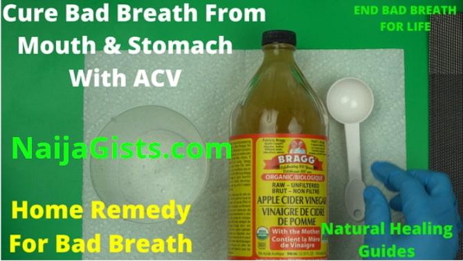 apple cider vinegar for bad breath stomach