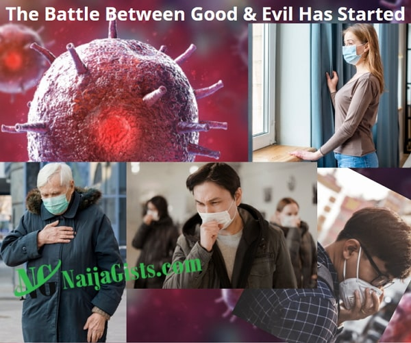 coronavirus battle between god satan