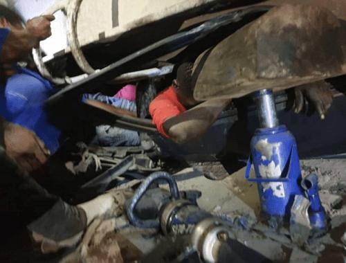 dangote truck crushes taxi kill 6