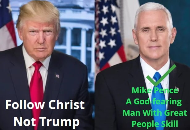 follow christ not trump