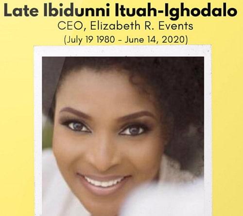ibidun ighodalo dies covid 19