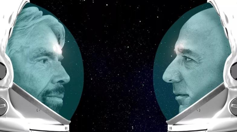 Bezos vs Branson space billionaire