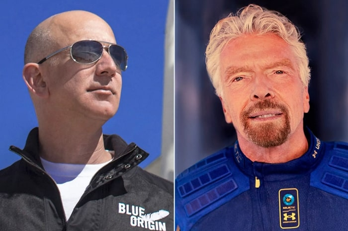 Bezos vs Branson space billionaires