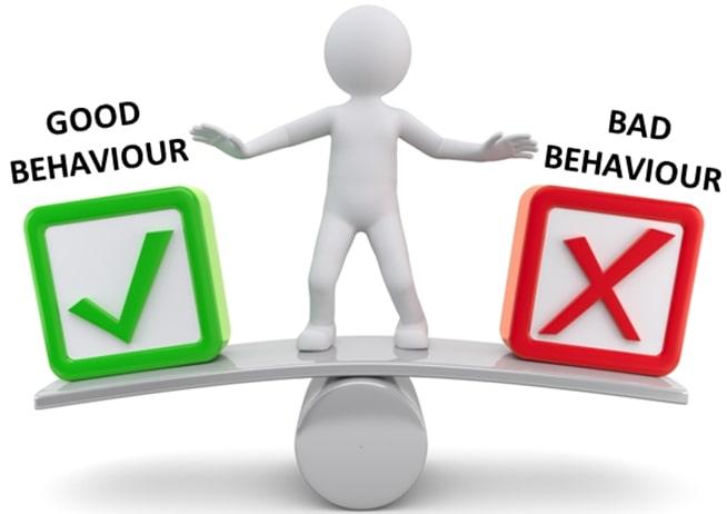 good behaviour vs bad behaviour
