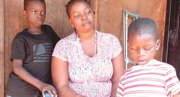 woman abandoned by husband delta state